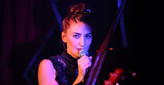 Sara Bareilles showcases new album, The Blessed Unrest, at NYC's McKittrick Hotel