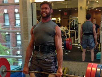 Hugh Jackman is hot and strong!