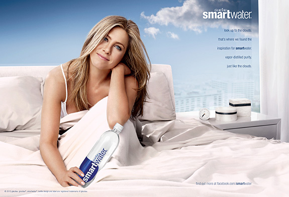 Jennifer Aniston still loves SmartWater!