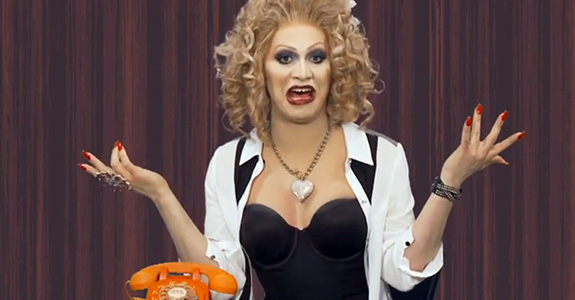 It's Friday, so here's Jinkx Monsoon on 'Ring My Bell!'