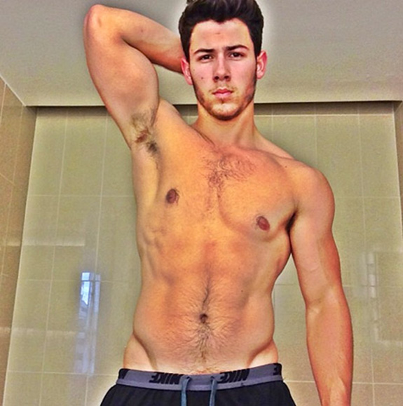 Nick Jonas Shirtless