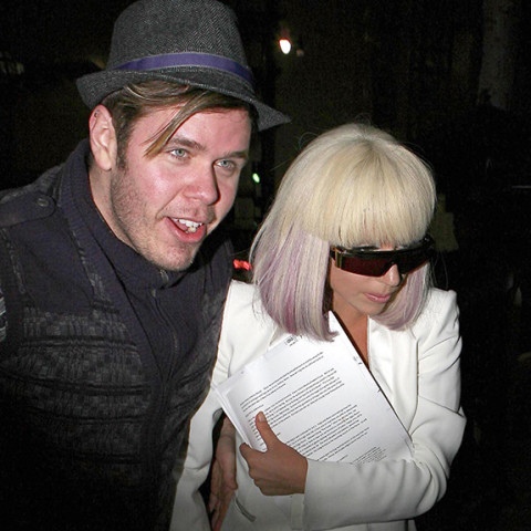 Perez Hilton and Lady Gaga