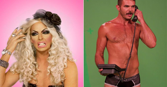 Drag Race's Alyssa Edwards and hottie Shawn Morales close out the week!
