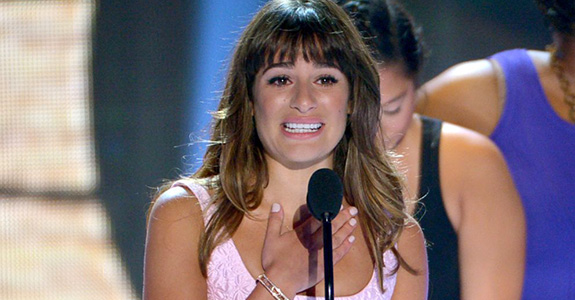 Lea Michele dedicated her TC Award to Cory Monteith