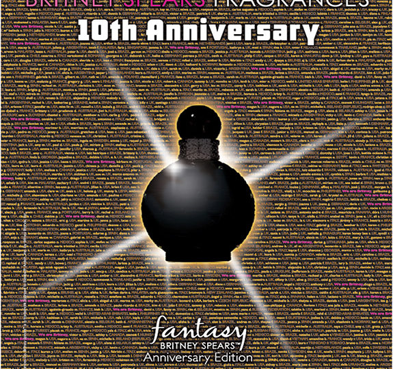 Britney celebrates 10 years of fragrances with this?