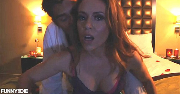 Alyssa Milano has a 'sex tape' now