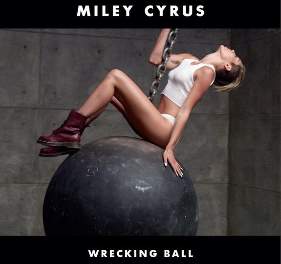 """Miley Cyrus unveiled the cover art for """"Wrecking Ball"""""""