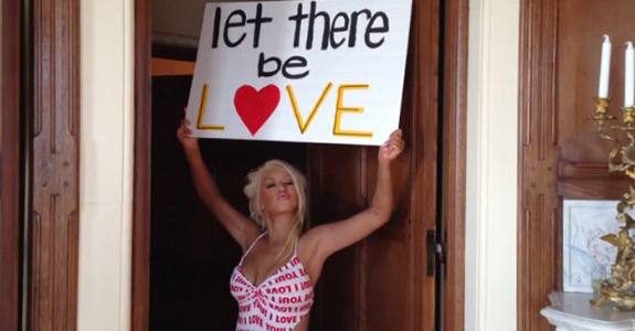 "Video: Christina Aguilera's ""Let There Be Love"""