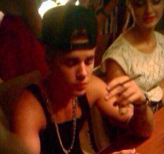 Justin Bieber: Snapped smoking weed again!