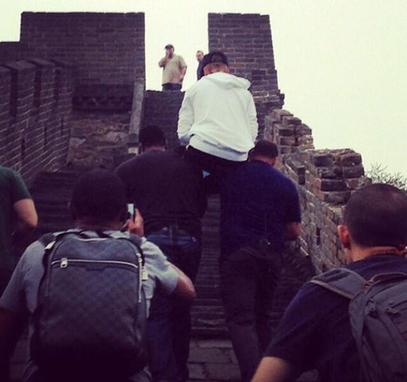 "Justin Bieber: ""Carry me up The Great Wall of China!"""