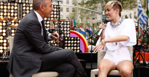 Matt Lauer and Miley Cyrus