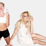 Miley Cyrus and Lindsay Lohan