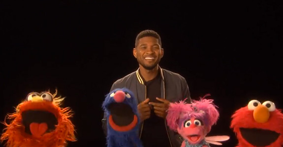 Usher sings the ABCs on 'Sesame Street'