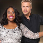 Amber RIley and Derek Hough