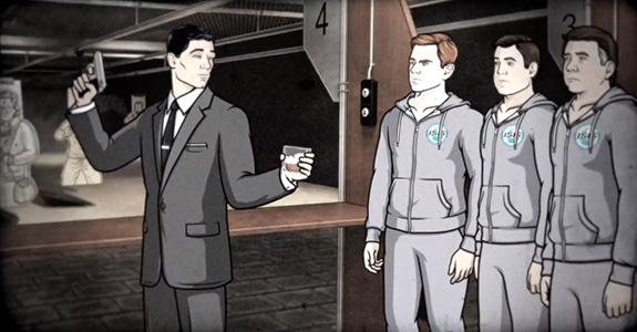'Archer' teaches us (nothing) about gun safety!