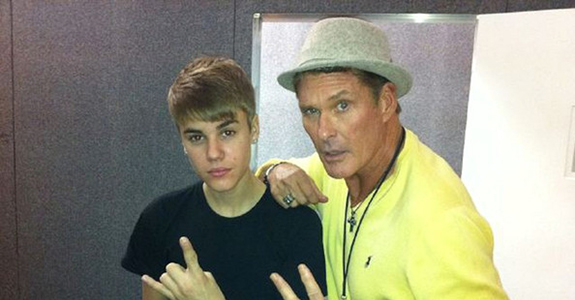Justin Bieber is giving advice to David Hasselhoff