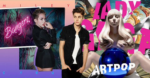 Gaga, Miley and Bieber