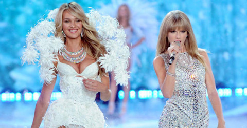 Jessica Hart and Taylor Swift