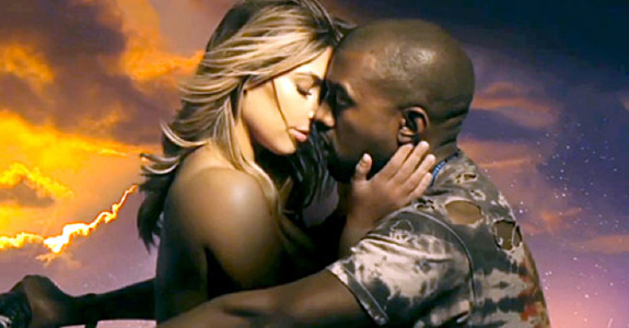 Kanye West and Kim Kardashian go green screen