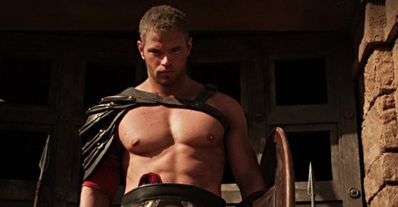 Kellan Lutz goes shirtless in 'The Legend of Hercules'