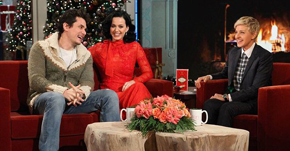Katy Perry, John Mayer and Ellen DeGeneres