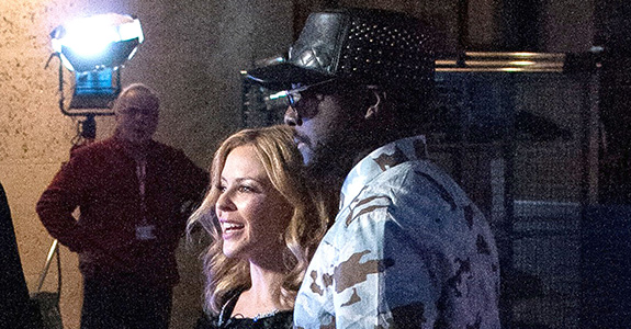 Will.I.Am and Kylie Minogue