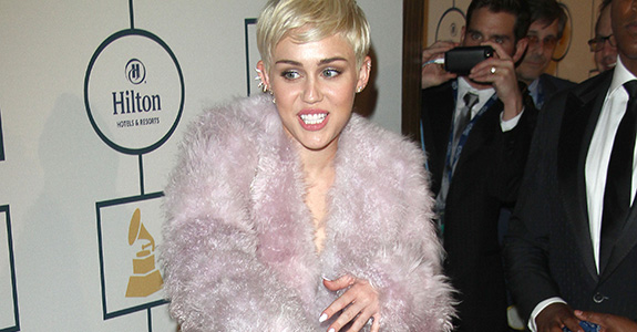 Miley Cyrus was just delightful at Clive Davis' party