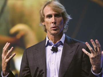 Michael Bay had a moment while on stage at CES