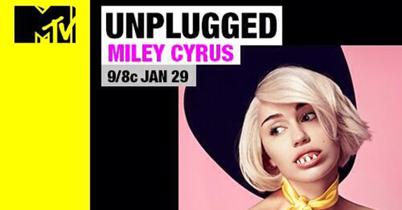 This is how Miley Cyrus is promoting her MTV Unplugged gig?