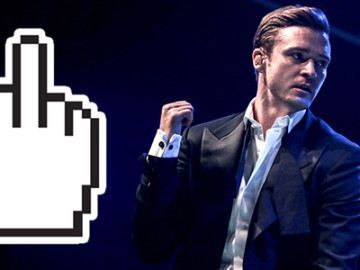 Justin Timberlake: Why you flipping me off?