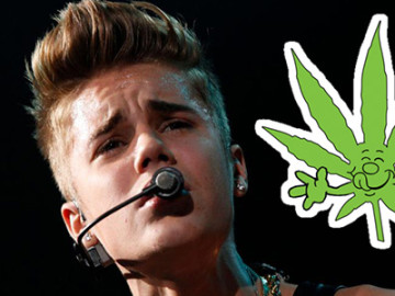 Justin Bieber's weed has reached cruising altitudes