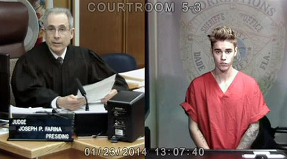 Justin Bieber's arrest video is under review before a possible release