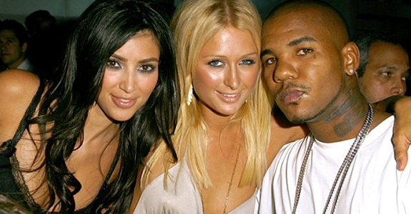 Kim Kardashian, Paris Hilton and The Game