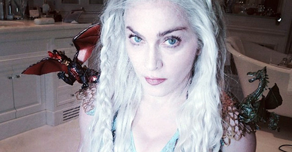 Madonna's Daenerys costume was the real deal!