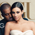 Kim Kardashian and Kanye West / Vogue Magazine