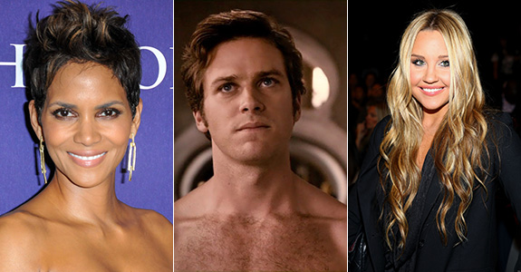 Halle Berry, Armie Hammer and Amanda Bynes