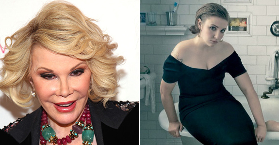 Joan Rivers thinks Lena Dunham's body positivity will kill her
