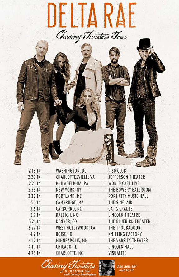 Delta Rae Chasing Twisters Tour