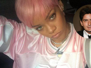 Charlie Sheen and Rihanna are fighting on Twitter