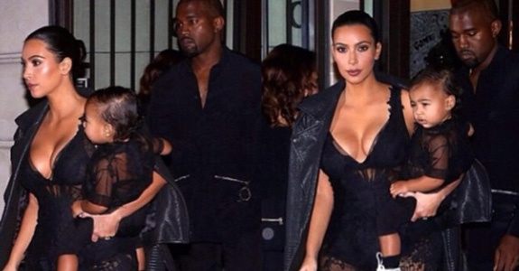 Kim and Kanye: Being delightful at Paris Fashion Week!