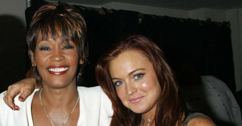 Whitney Houston and Lindsay Lohan