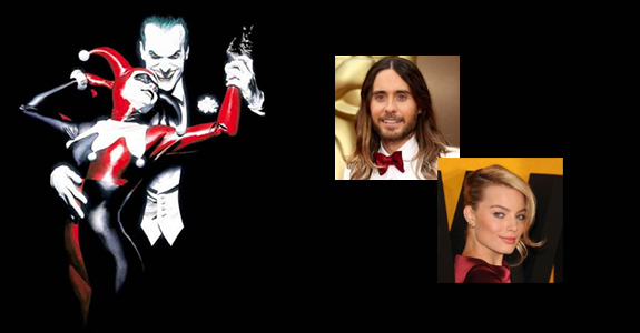 Jared Leto–The Joker? Margot Robbie–Harley Quinn?
