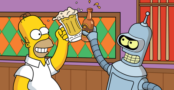 First Look: 'The Simpsons' / 'Futurama' crossover!