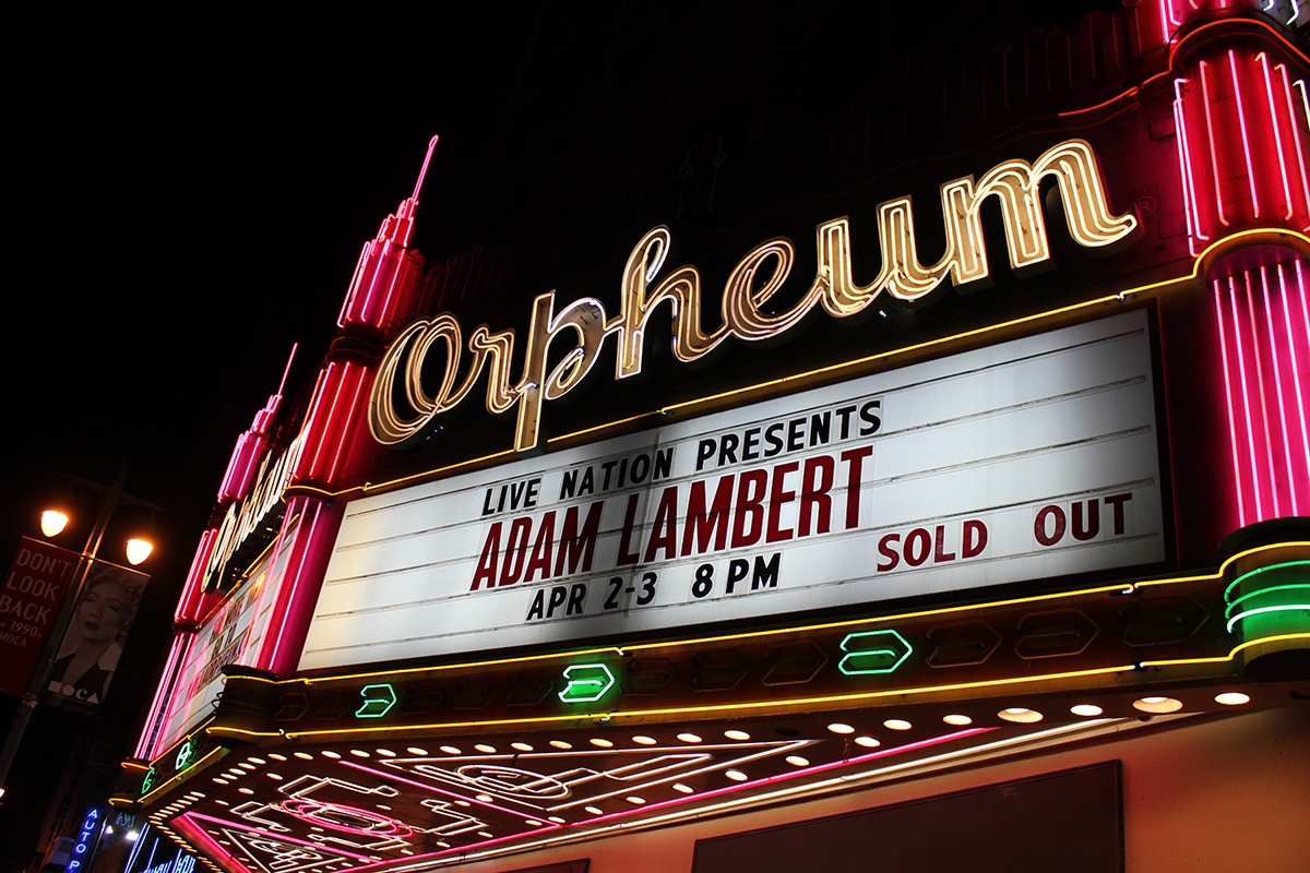 Adam Lambert The Orpheum Los Angeles CA 04.03.16